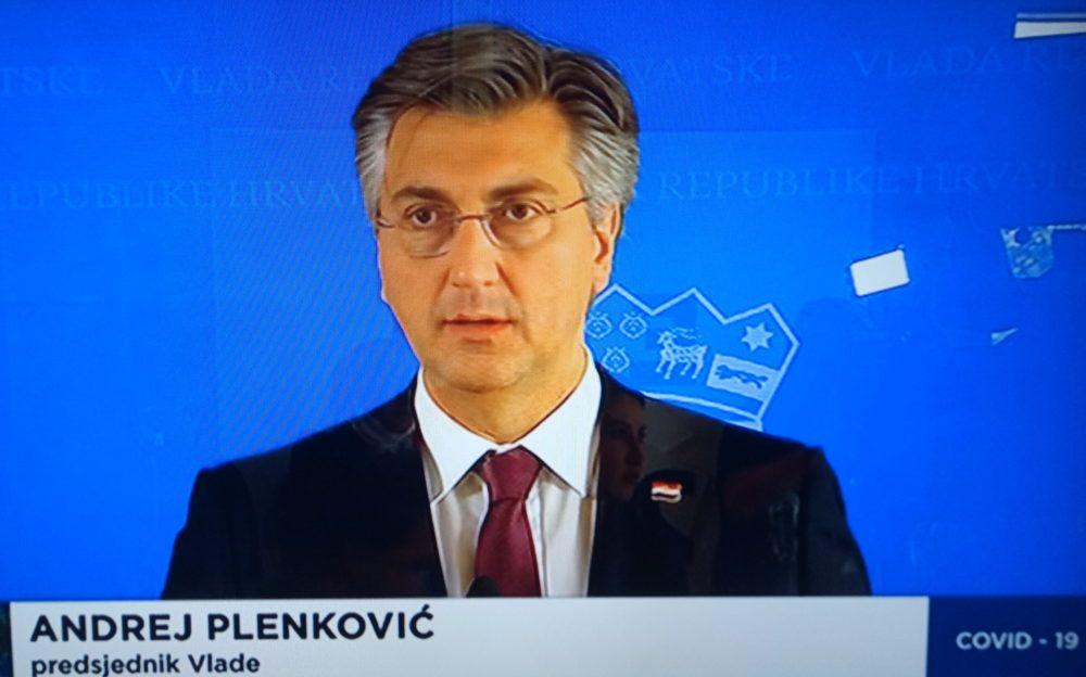 """Plenković: """"Molim sve naše sugrađane da dobro razumiju što danas radimo. Sve ono što se tiče fizičke distance i visokih higijenskih standarda je i dalje temelj naše borbe protiv zaraze Covid-19"""""""