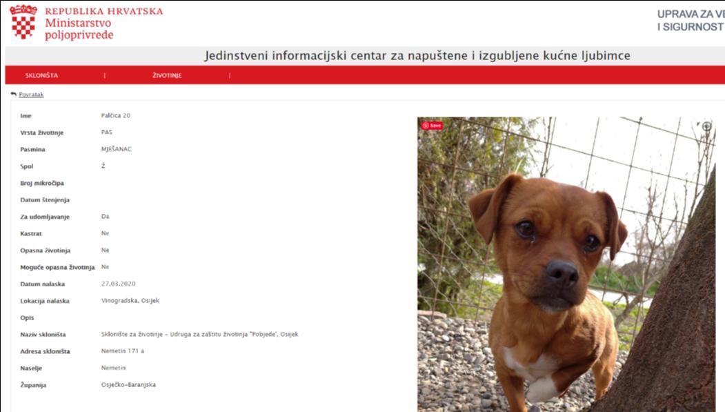 Prijatelji životinja obavijestili sve lokalne zajednice o važnosti Jedinstvenog informacijskog centra za izgubljene i napuštene životinje