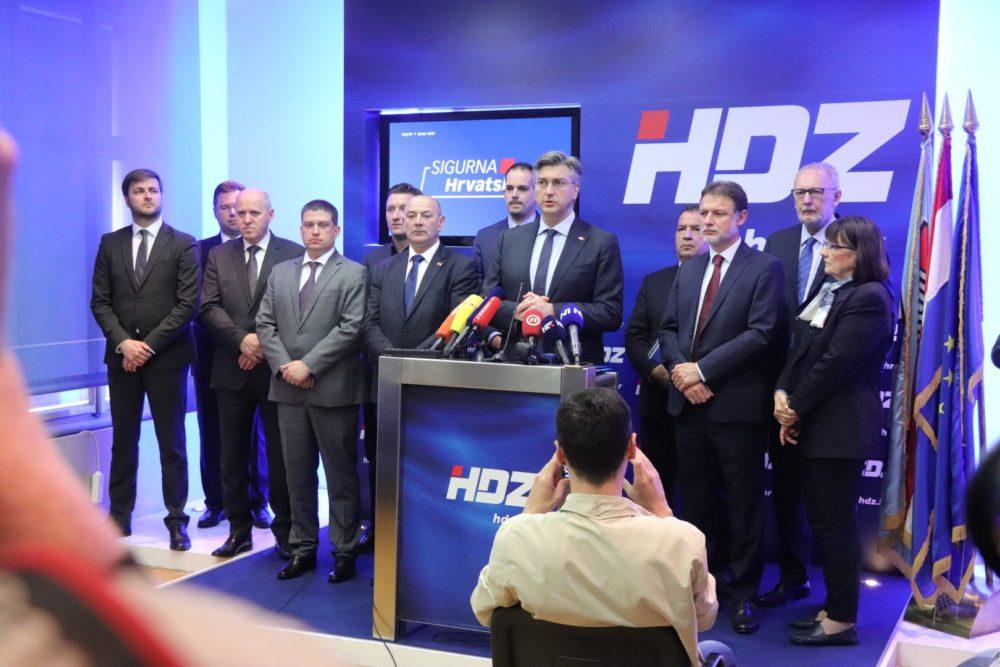 """HDZ predstavio izborni program """"Sigurna Hrvatska"""""""