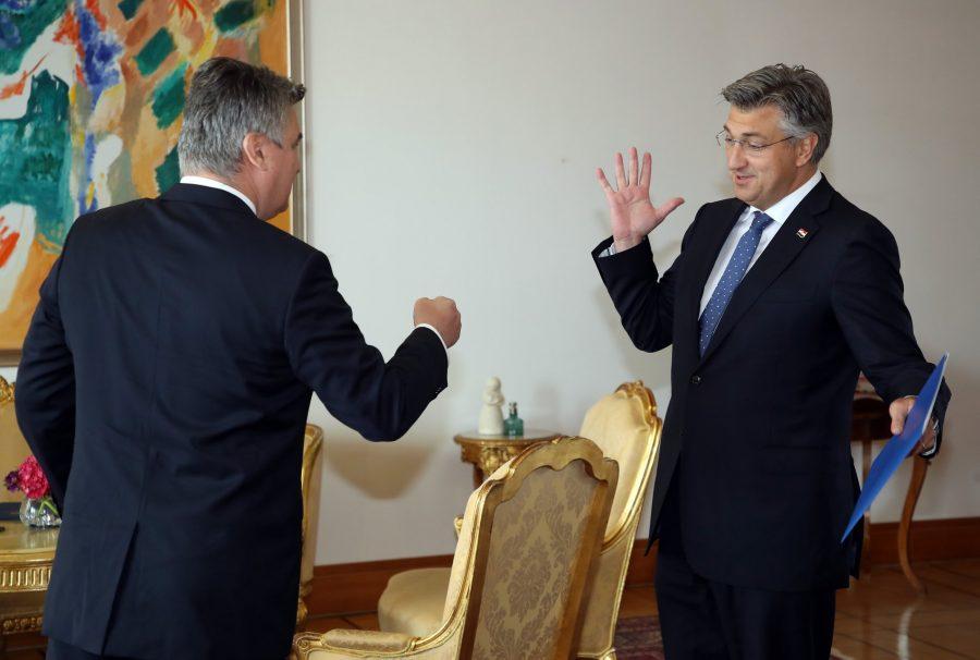 Predsjednik RH Milanović dao predsjedniku HDZ-a Plenkoviću mandat za sastavljanje Vlade