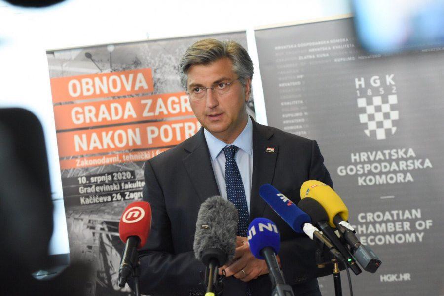 Plenković: Zakon o obnovi Zagreba i okolice jedan od prvih koji će Sabor usvojiti nakon izbora