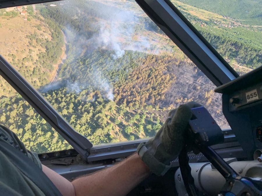 MORH: Pet protupožarnih aviona i danas djeluju na požarištu kod Muća