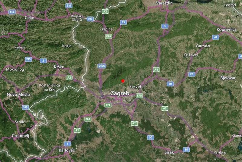 U Zagrebu još jedan slab potres od 2.3 po Richteru