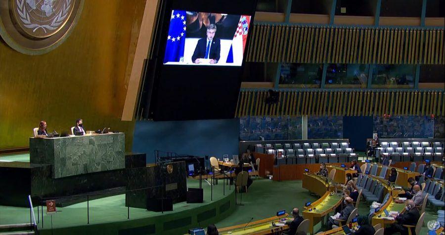 Plenković pozvao na reformu UN-a u virtualnom govoru na 75. Općoj skupštini svjetskeorganizacije