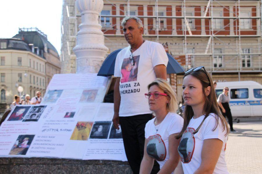 Slučaj Šeherzada Bajrić – otac Enver na Trgu bana Josipa Jelačića spava već 40 dana; Plenković šokiran!