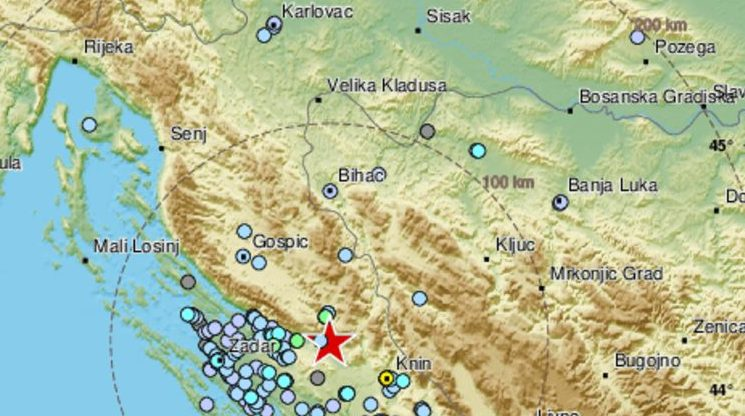 TRESLA SE DALMACIJA – Snažan potres magnitude 4.2 po Richteru kod Gračaca: jaka tutnjava i dobro je protreslo splitsko, šibensko i zadarsko područje