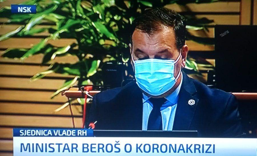 Beroš: Blagi pad novozaraženih u Hrvatskoj