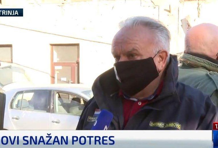 Dumbović poziva da se hitno u Petrinju pošalje pomoć