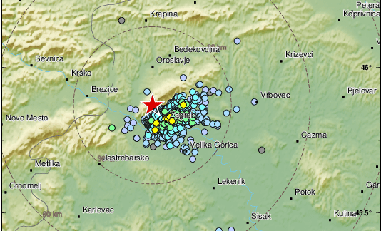Novi potresi tresu Hrvatsku: Potres jačine 2,4 po Richteru kod Zagreba