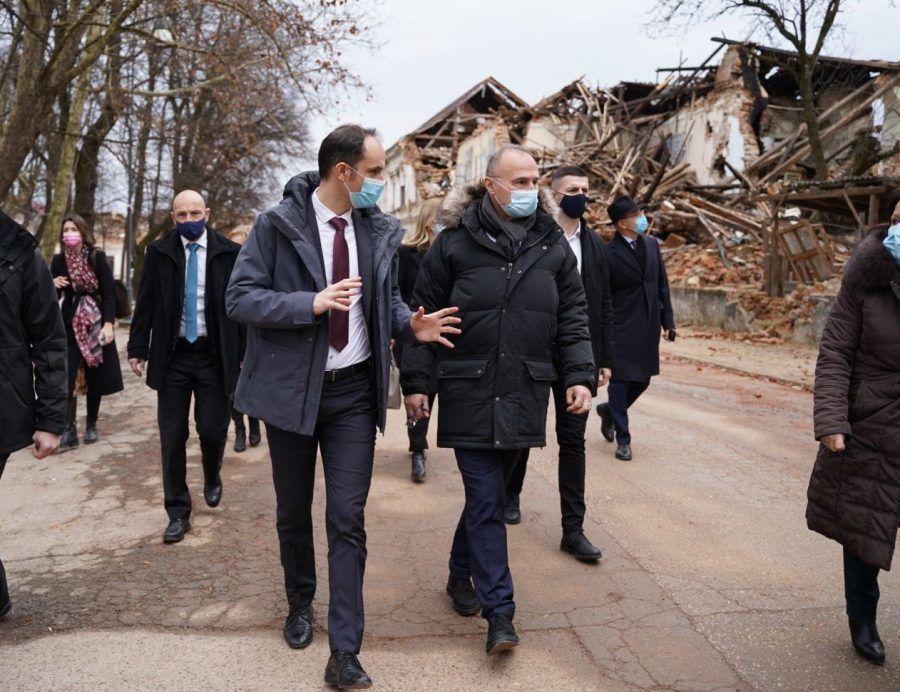 Slovenski ministar Logar u Petrinji: Uvijek ćemo pomoći susjedu u nevolji