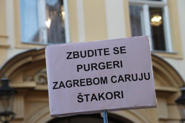 Udruge performansom podsjetile na prosvjed protiv Bandića i najavile nove svakih deset dana do lokalnih izbora