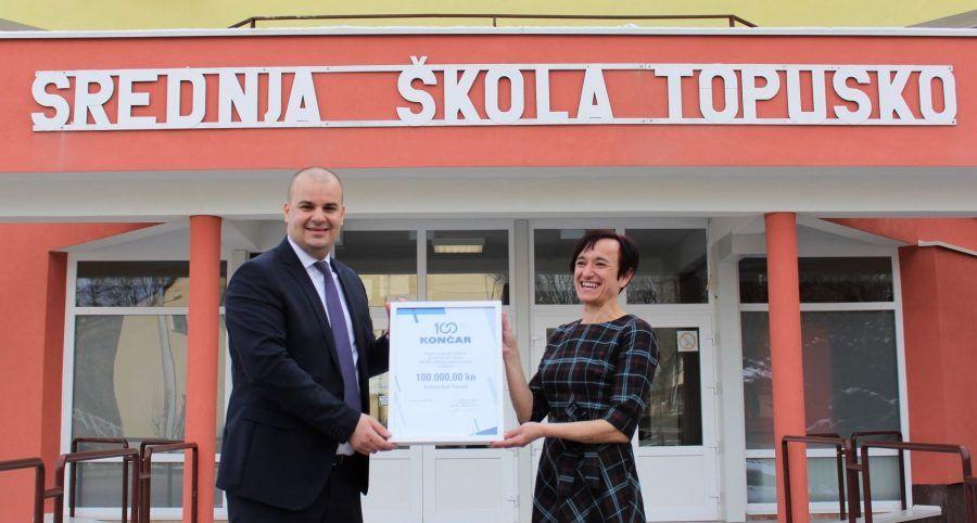 Grupa Končar donirala 100.000 kuna Srednjoj školi Topusko