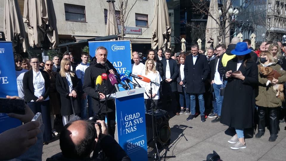 Škoro predstavio kandidaturu: Mene nitko ne može kupiti; HDZ-ov Davor Filipović je Trnoružica jer je očito spavao četiri godine u Skupštini