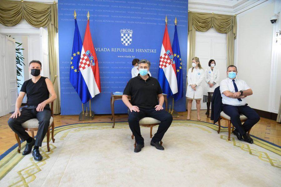 (VIDEO) Jandroković, Plenković i Beroš cijepili se AstraZenecinim cjepivom