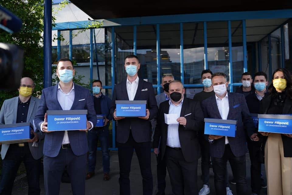 Zagrebački HDZ predao izborne liste za vijeća gradskih četvrti i mjesnih odbora