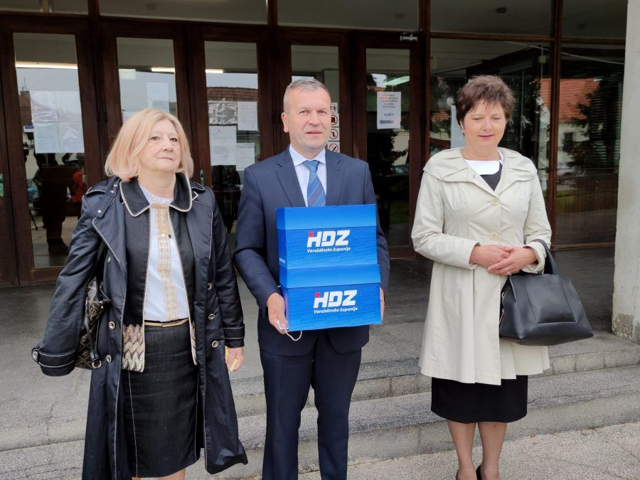 HDZ-ov kandidat za varaždinskog župana Anđelko Stričak predao potpise