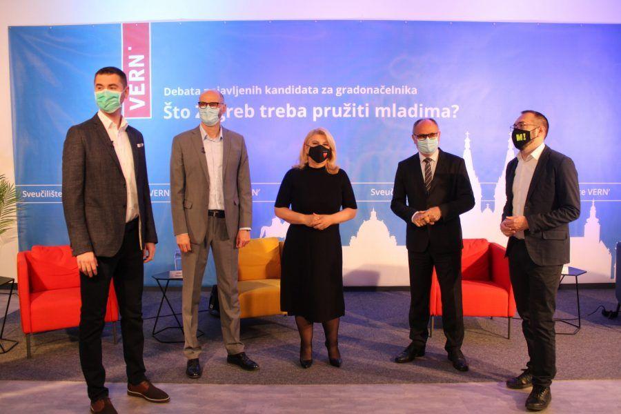 (FOTO i VIDEO) Sučeljavanje kandidata za zagrebačkog gradonačelnika na VERN-u: Tko osvaja generacijske izbore?