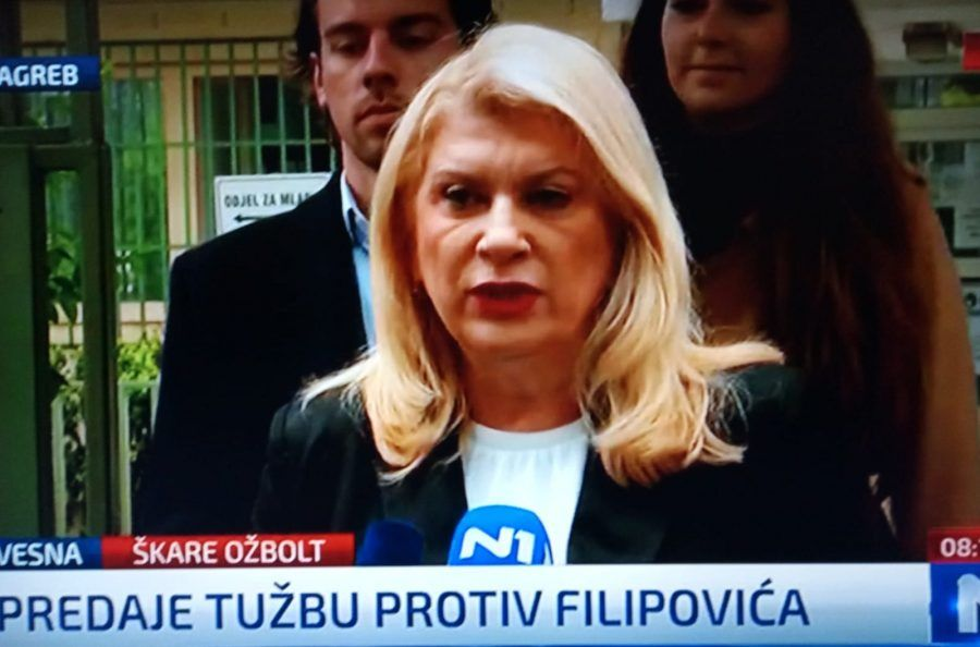 Škare Ožbolt predala tužbu protiv HDZ-ovog Davora Filipovića: platio je daljnje širenje svojih laži na Facebooku