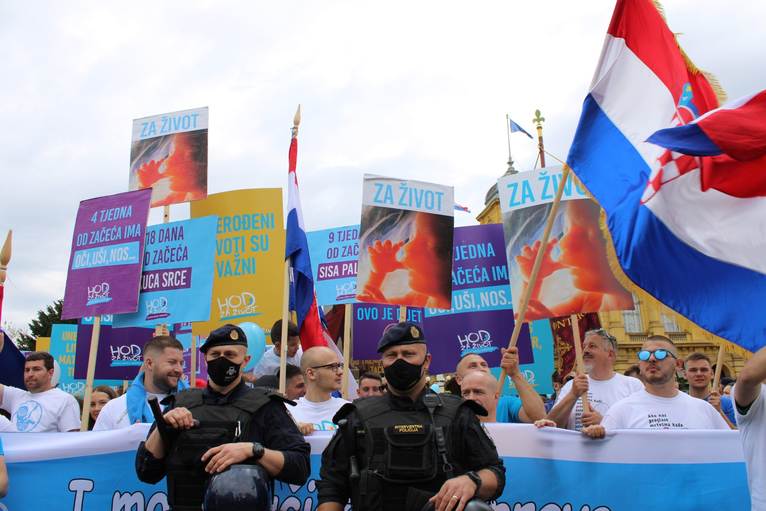 """HOD ZA ŽIVOT, OBITELJ I HRVATSKU: """"Policija je pokazala da stoji na strani ljudskih vrijednosti i života"""""""