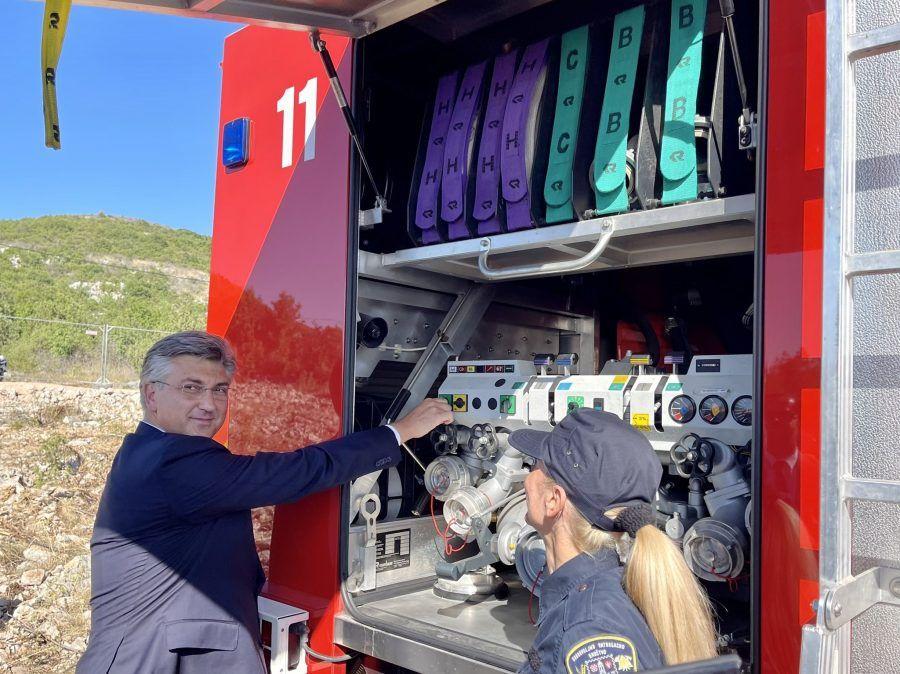 """Plenković: """"Posebno sam ponosan da smo osnažili vatrogastvo"""""""