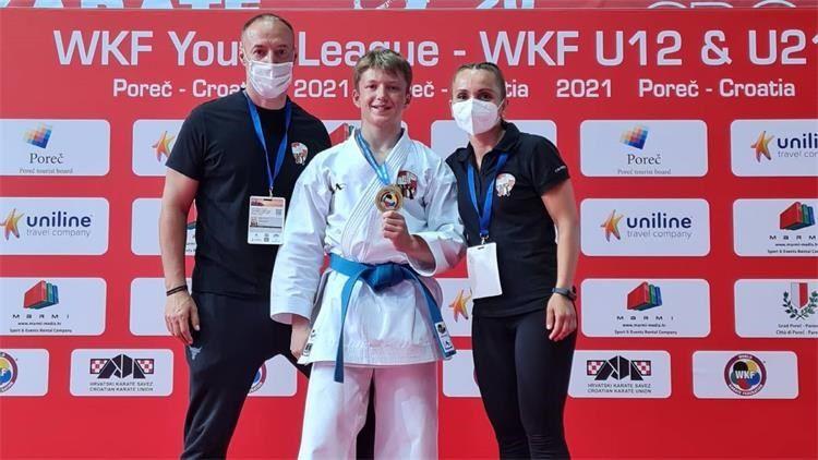 """Dino Huić osvojio prvo povijesno zlato za policijski karate klub """"Alfa"""""""